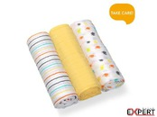 Set 3 scutece textile bumbac- yellow