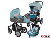 Carucior 3 in 1 - Baby Design Dotty 05 Turquoise