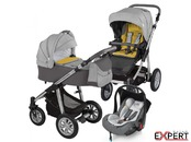 Carucior 3 in 1 - Baby Design Dotty 07 grey