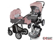 Carucior 3 in 1 - Baby Design Dotty 08 Koral
