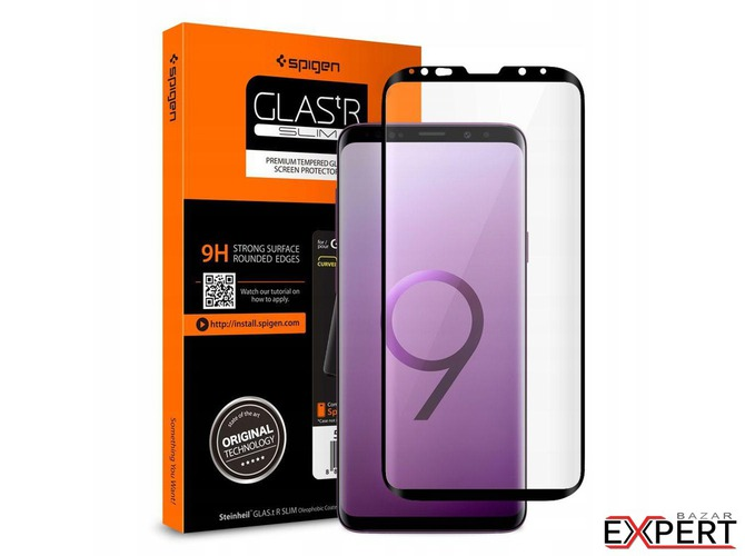 Folie sticla Case friendly Spigen GLAS.tR Samsung Galaxy S9 Black