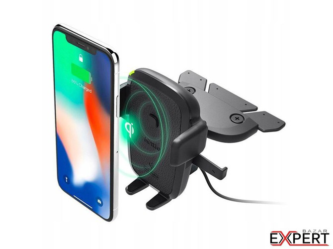 Suport auto iOttie Easy One Touch 4 Qi Wireless Fast Charging CD Slot Mount Negru