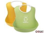 Set 2 bavete Soft Bib, Green/Yellow