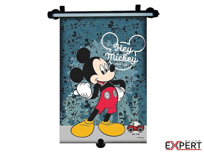 Parasolar retractabil Mickey Mouse